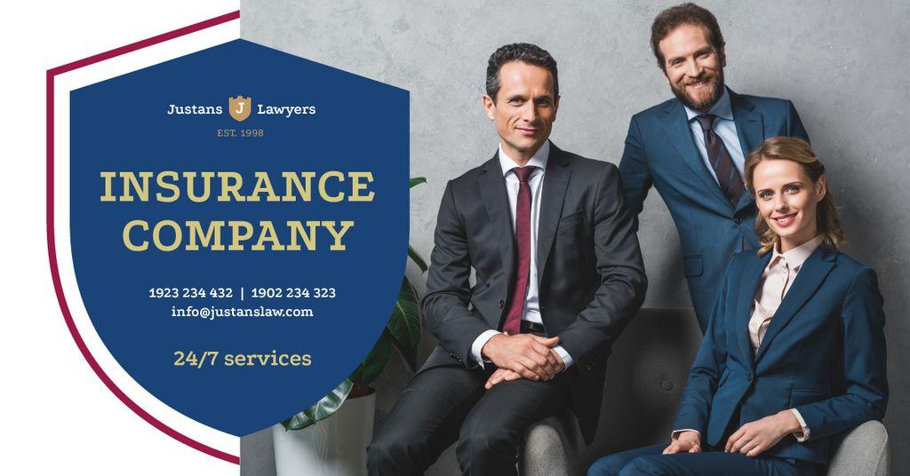 Insurance Company Successful Business Team — Modelo de projeto
