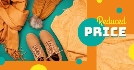 Modèle de visuel Autumn Offer Female Outfit in Orange - Facebook AD