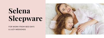 Sleepware Offer with Mother and Daughter in bed