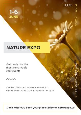 Nature Expo Annoucement Poster Modelo de Design