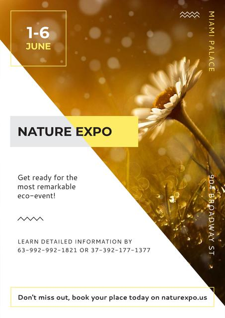 Nature Expo Annoucement Posterデザインテンプレート