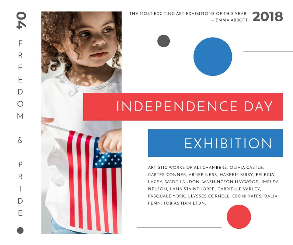 Exhibition on USA Independence Day — Create a Design