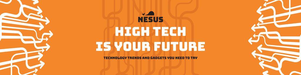 Technology trends Ad on Orange — Создать дизайн