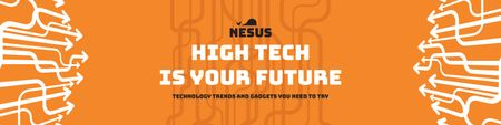 Szablon projektu Technology trends Ad on Orange Twitter