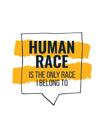 Plantilla de diseño de Citation about Human Race T-Shirt