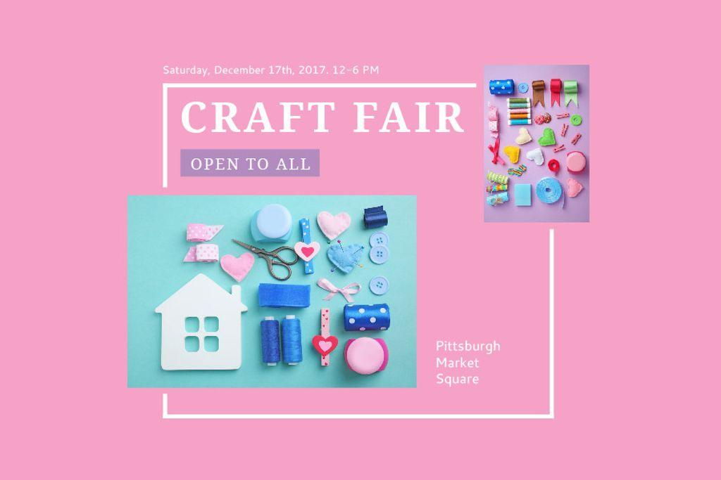 Plantilla de diseño de Craft fair Announcement Gift Certificate