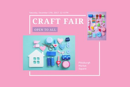 Ontwerpsjabloon van Gift Certificate van Craft fair Announcement