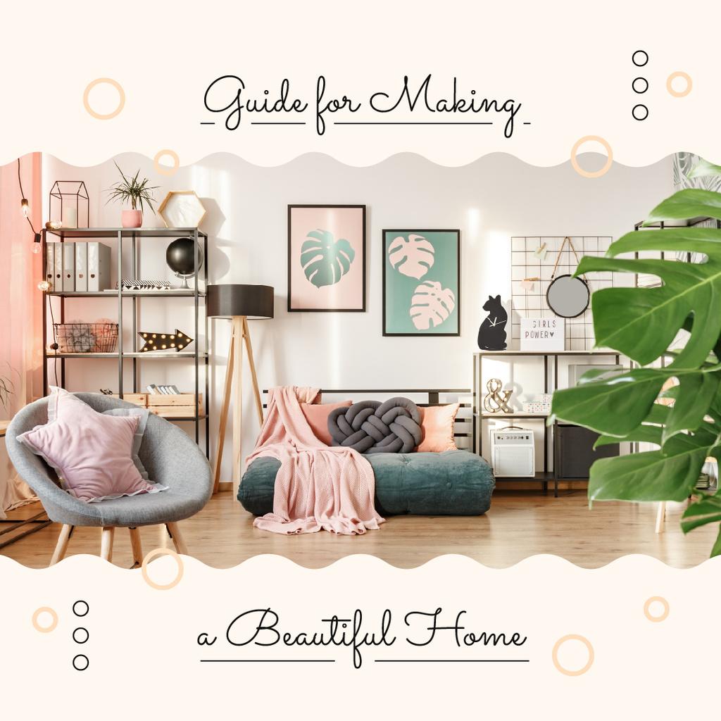 Cozy modern Room Interior — Modelo de projeto