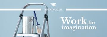 Tools for Home Renovation in Blue | Tumblr Banner Template