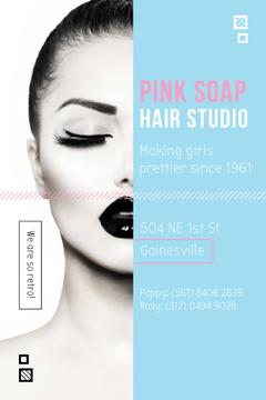 Hair Studio Offer with Attractive Woman