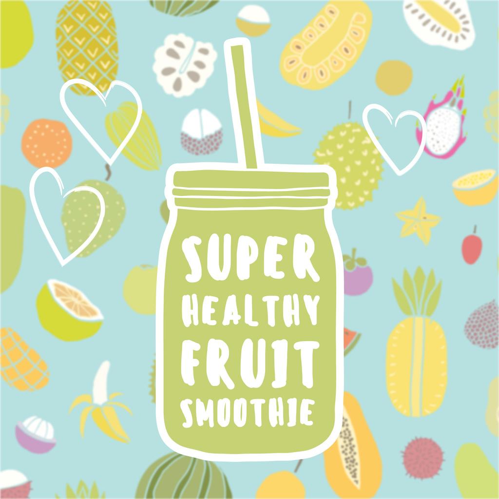 Healthy Nutrition Offer with Smoothie Bottle — Maak een ontwerp