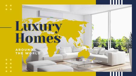 Plantilla de diseño de Cozy interior in white colors Presentation Wide