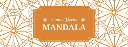 Home decor sale ad with floral texture Facebook cover Modelo de Design