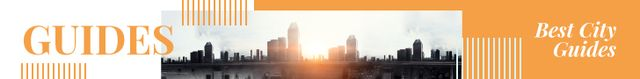 City Guide View of Modern Buildings Leaderboard Modelo de Design