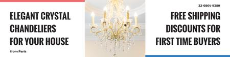 Template di design Elegant crystal chandeliers shop Twitter