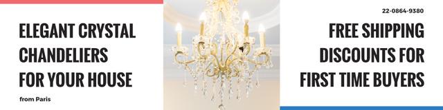 Ontwerpsjabloon van Twitter van Elegant crystal chandeliers shop