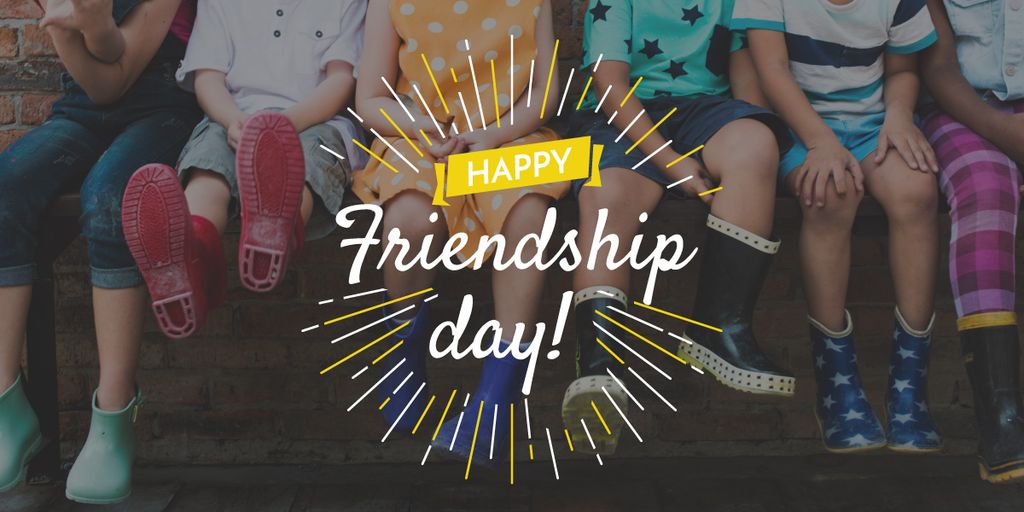 Happy Friendship Day poster — Crear un diseño