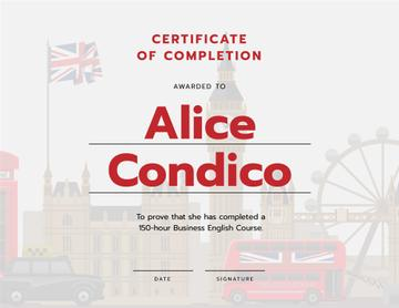 Language School Online courses Completion confirmation