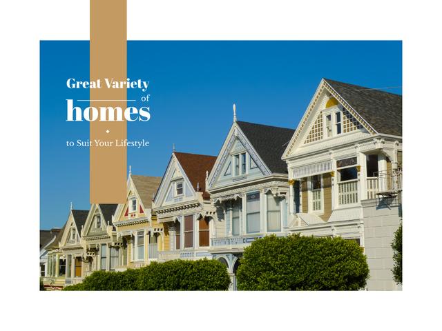 Choosing Home Tips Houses with Wooden Facades Presentation – шаблон для дизайна