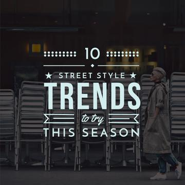 Street style trends poster