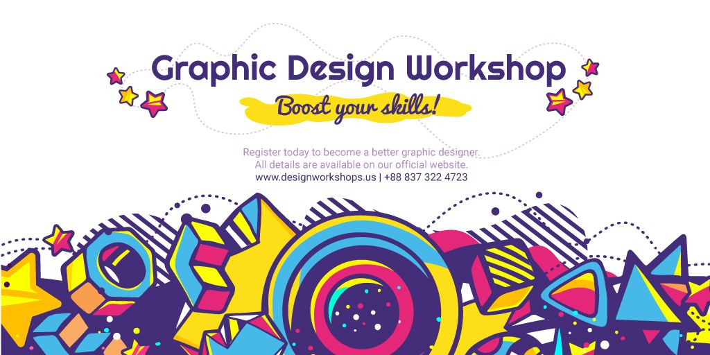 Graphic design workshop banner — Crear un diseño