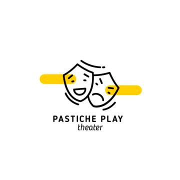 Play Announcement Theatrical Masks | Logo Template