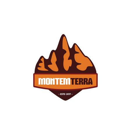 Travelling Tour Ad with Mountains Icon Logo Modelo de Design