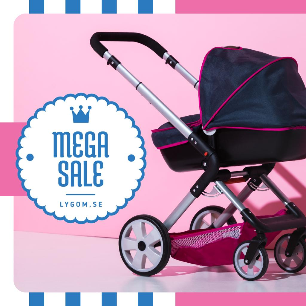 Baby Store Sale Stroller in Pink and Blue — Crear un diseño