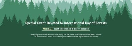 International Day of Forests Event Announcement in Green Tumblr Tasarım Şablonu