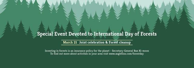 Plantilla de diseño de International Day of Forests Event Announcement in Green Tumblr