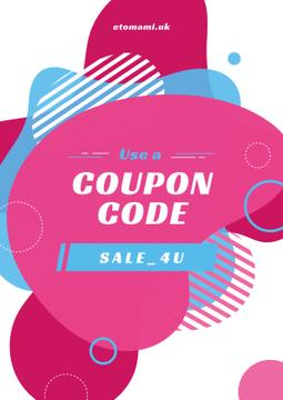 Sale Coupon Minimalistic Geometric Pattern in Pink