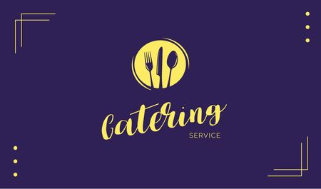 Catering Food Service Offer Business card Modelo de Design