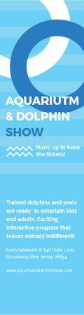 Aquarium & Dolphin show Skyscraper Design Template