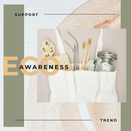Eco-friendly Trend Sustainable Products Instagram AD Tasarım Şablonu