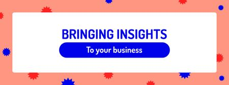Modèle de visuel Business Agency ad on bright pattern - Facebook cover