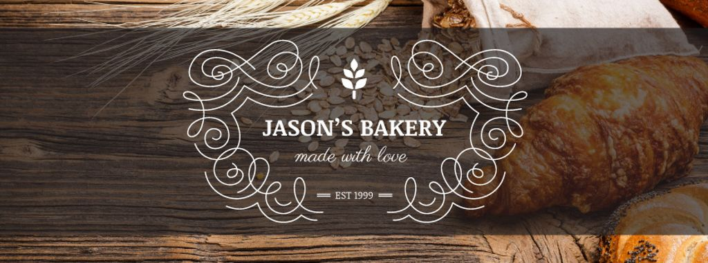 Bakery Offer Fresh Croissants on Table | Facebook Cover Template — Maak een ontwerp