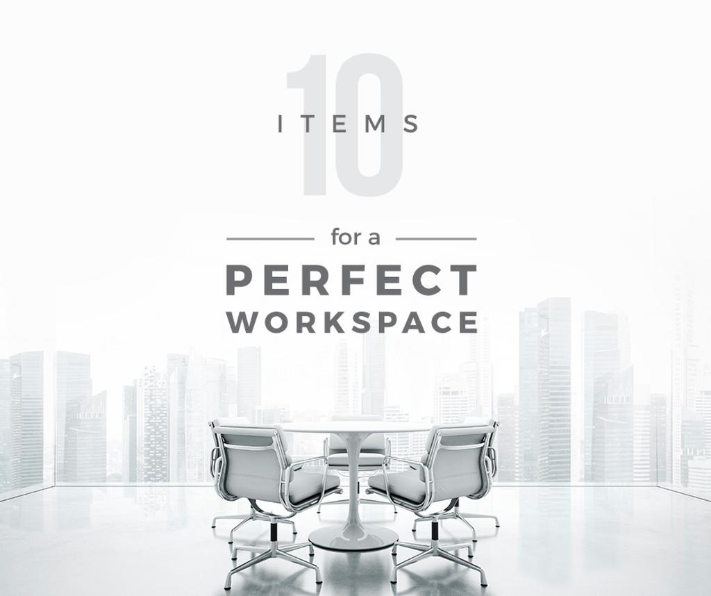 items for a perfect workspace poster — Crea un design