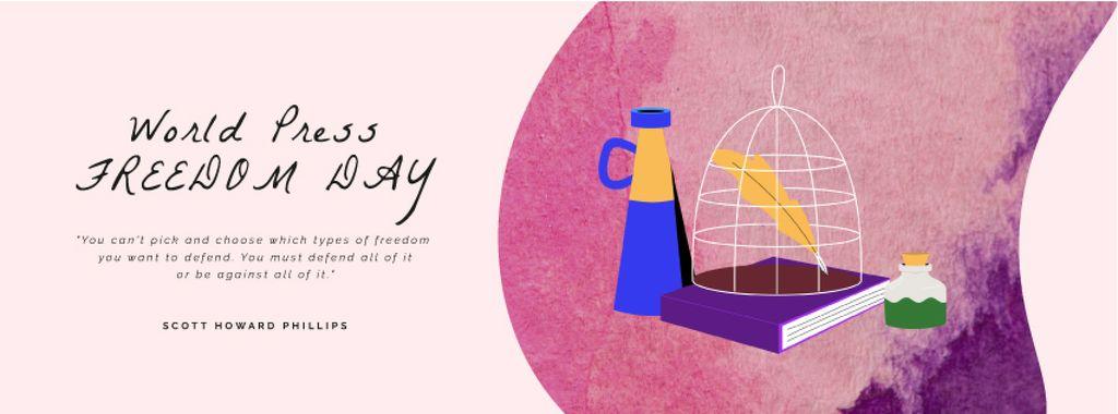 Press Freedom Day Journalist Workplace and Attributes — Crea un design