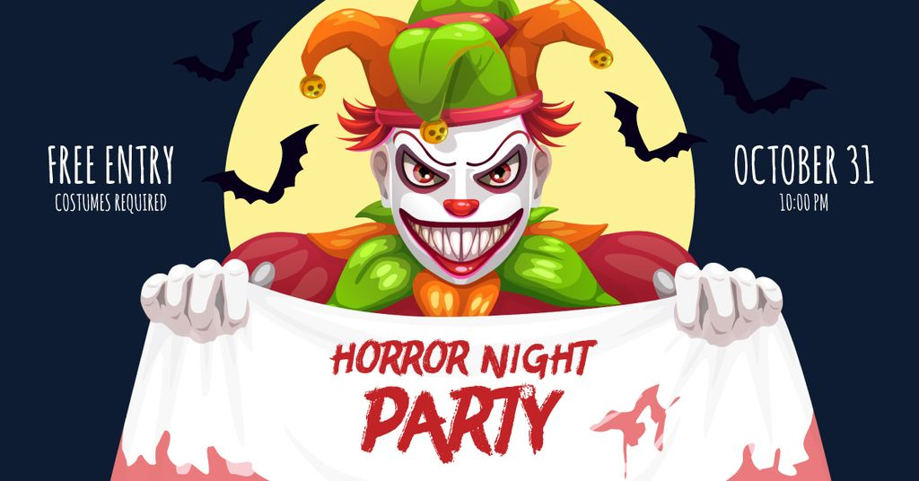 Halloween scary clown — Maak een ontwerp