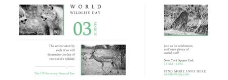 Plantilla de diseño de World Wildlife Day Animals in Natural Habitat Tumblr