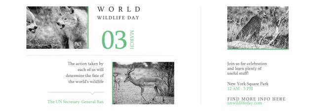 World Wildlife Day Animals in Natural Habitat Tumblr – шаблон для дизайну