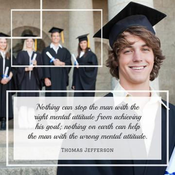 Group of students with motivational quote
