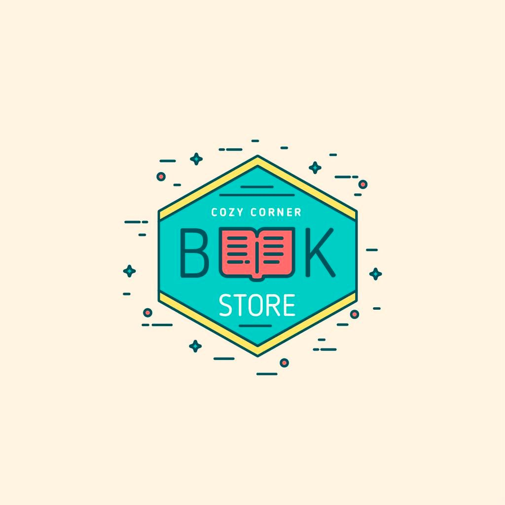Bookstore Ad with Open Book Icon — Crear un diseño