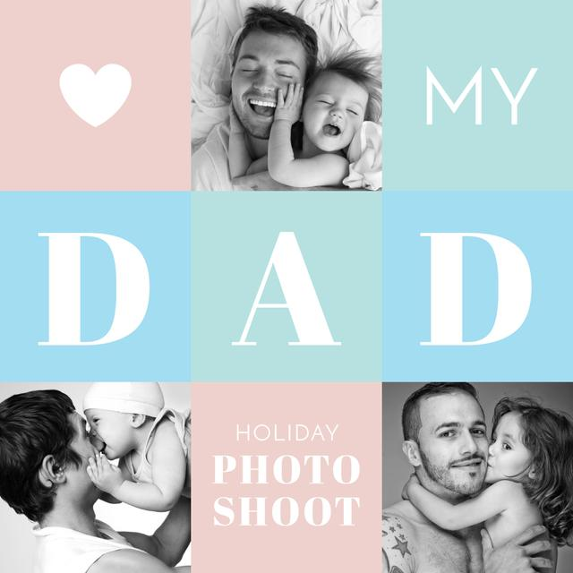 Father's Day family Photo shoot offer Instagram AD – шаблон для дизайна