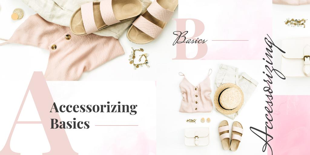 Fashion look composition Image Design Template