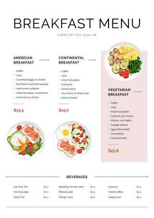 Template di design Cafe Breakfast and Beverages Menu
