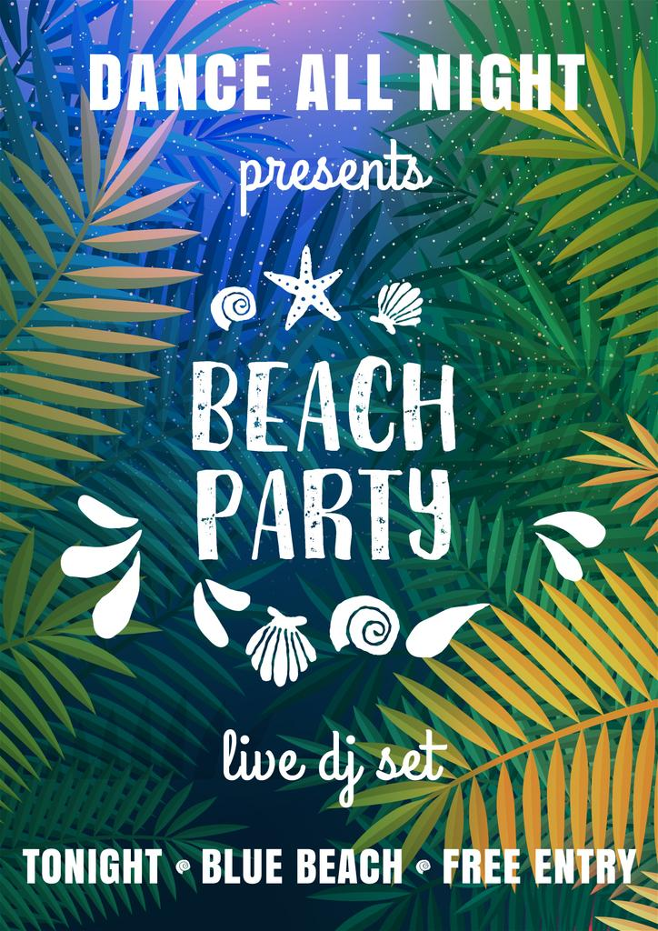 Bright Beach party Invitation — ein Design erstellen