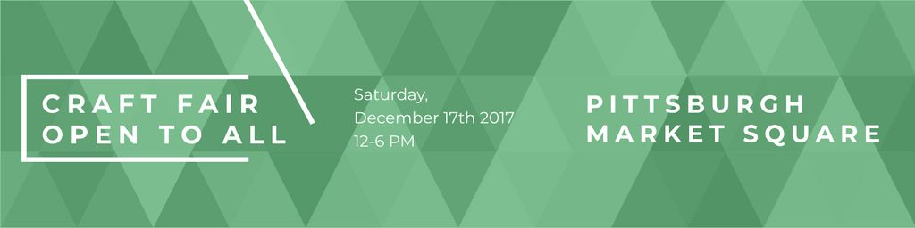 Craft fair in Pittsburgh Announcement Twitterデザインテンプレート