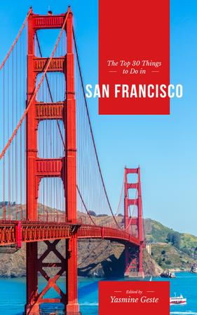 Plantilla de diseño de Travelling San Francisco Book Cover