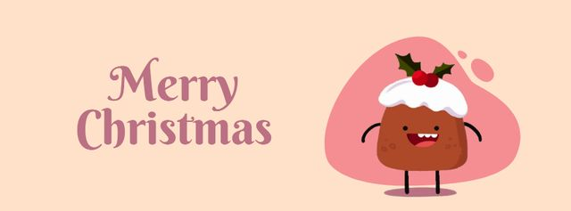 Ontwerpsjabloon van Facebook Video cover van Happy Christmas pudding